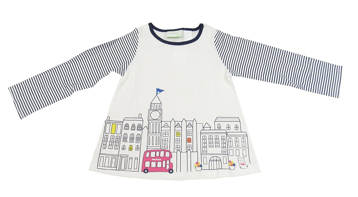 First Impressions Baby Girls Long-Sleeve London Graphic-Print T-Shirt 24 Months