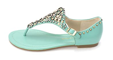 Circa Joan David Womens KAYCIA Open Toe Casual TURQUOISE SY Size 60