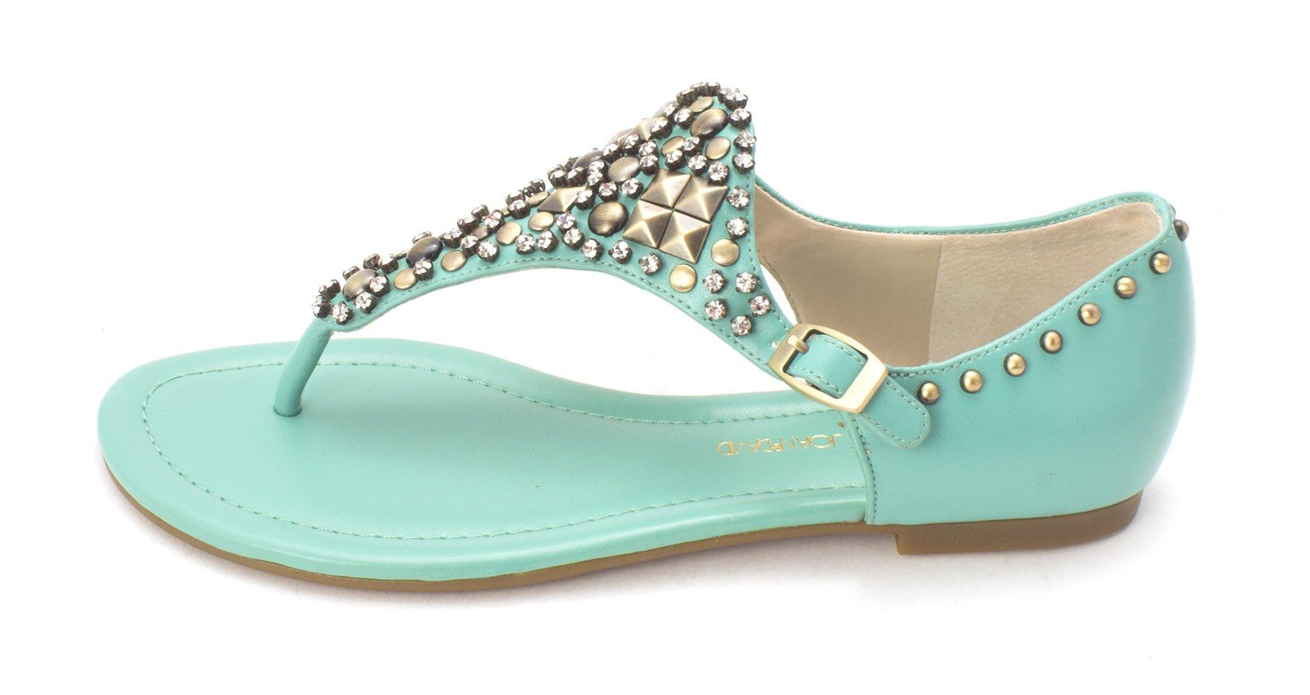 Circa Joan & David Kaycia Women's Sandals & Flip Flops, Turquoise SY, Size 6.0