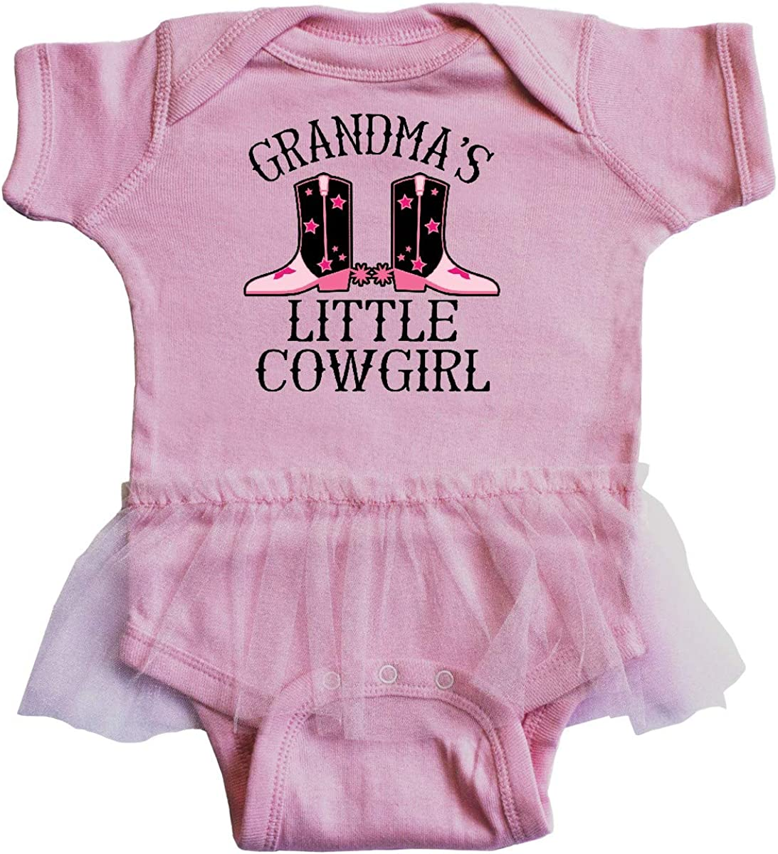 inktastic Grandma Little Cowgirl Baby Clothes Infant Tutu Bodysuit