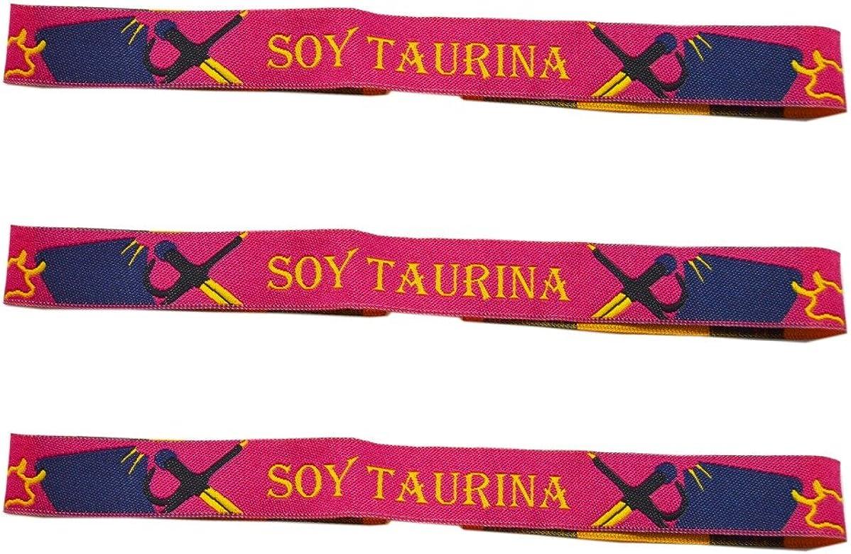 ALBERO Pulsera Soy TAURINA Tela España 3 Unidades - 29 X 1,50 cm ...