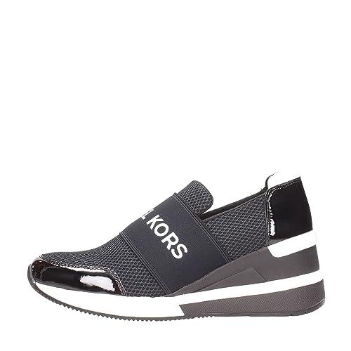 MICHAEL KORS Zapatos Mujeres Sneakers Felix Trainer Scuba 43T8FXFS3D Black Negro: Amazon.es: Zapatos y complementos