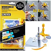 Car Windshield Repair Kit, durable Auto Windshield Crack Repair Kit for Car Windscreen/Glass Rock Chip, Bulls Eye, Star, Half Moon Repair