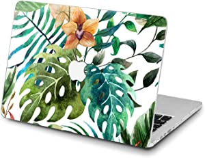Lex Altern Hard Case for Apple MacBook Pro 15 Air 13 inch Mac Retina 12 11 2020 2019 2018 2017 2016 Nature Orange Bloom Girl Women Orchid Shell Plastic Laptop Touch Bar Design Monstera Aesthetic