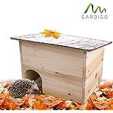 Gardigo casa per riccio con tetto apribile | Casetta per ricci in legno | Hedgehog House con ingresso labirinto | Riparo per porcospino perfetto per il letargo invernale