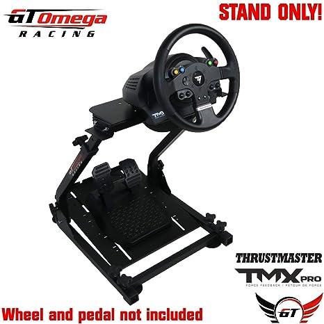 GT Omega Lenkradständer PRO für Thrustmaster TMX-Laufrad Xbox One & Pedale, TX, Xbox, Fanatec - faltbar, neigungsverstellbare
