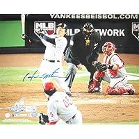 Steiner Sports MLB New York Yankees Hideki Matsui 2009 WS Home Run fotografía Horizontal