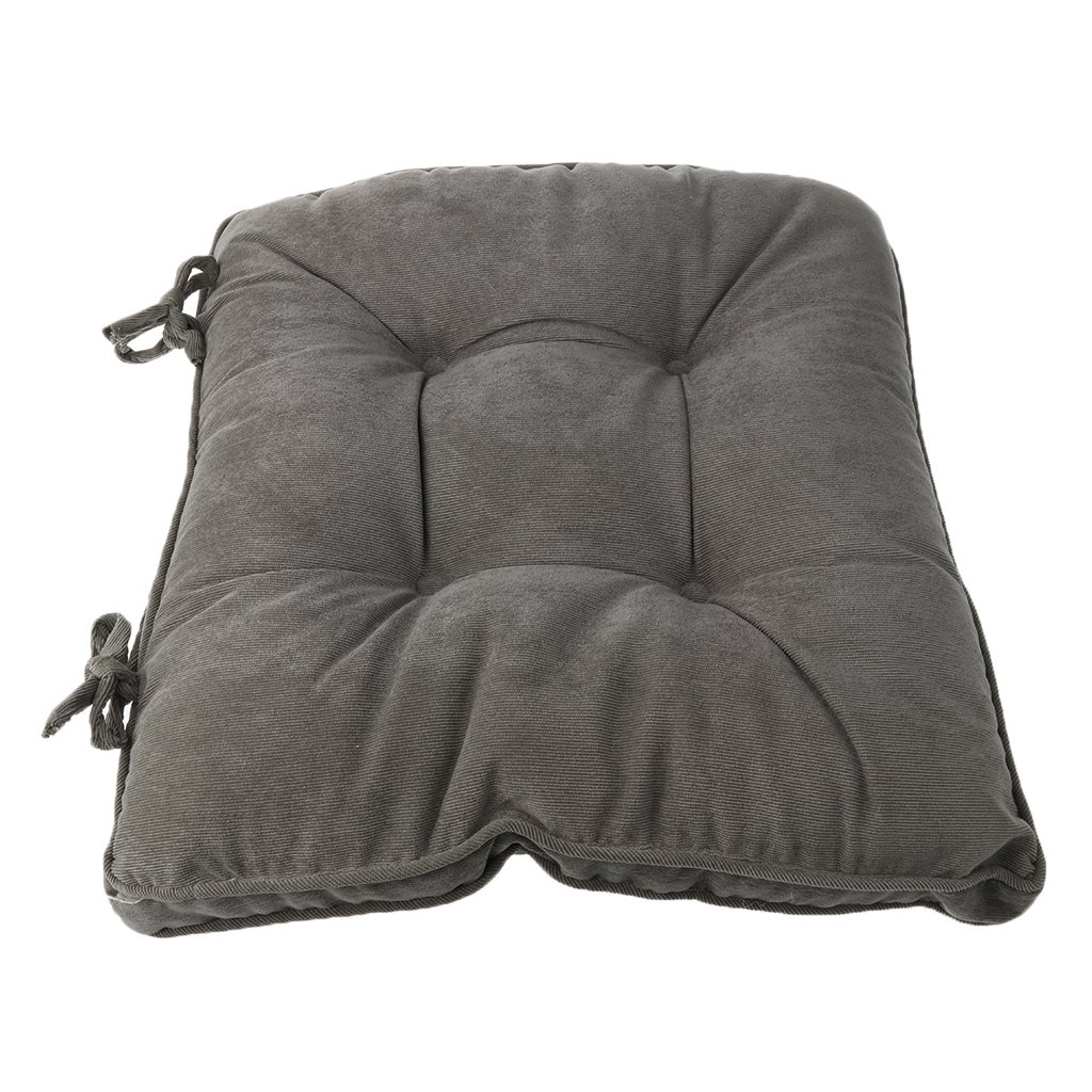 MonkeyJack Thicken Futon Yoga Room Seat Cushion Square Living Room Floor Pillow Cushions Balcony Window Pads - Gray, 45x45cm