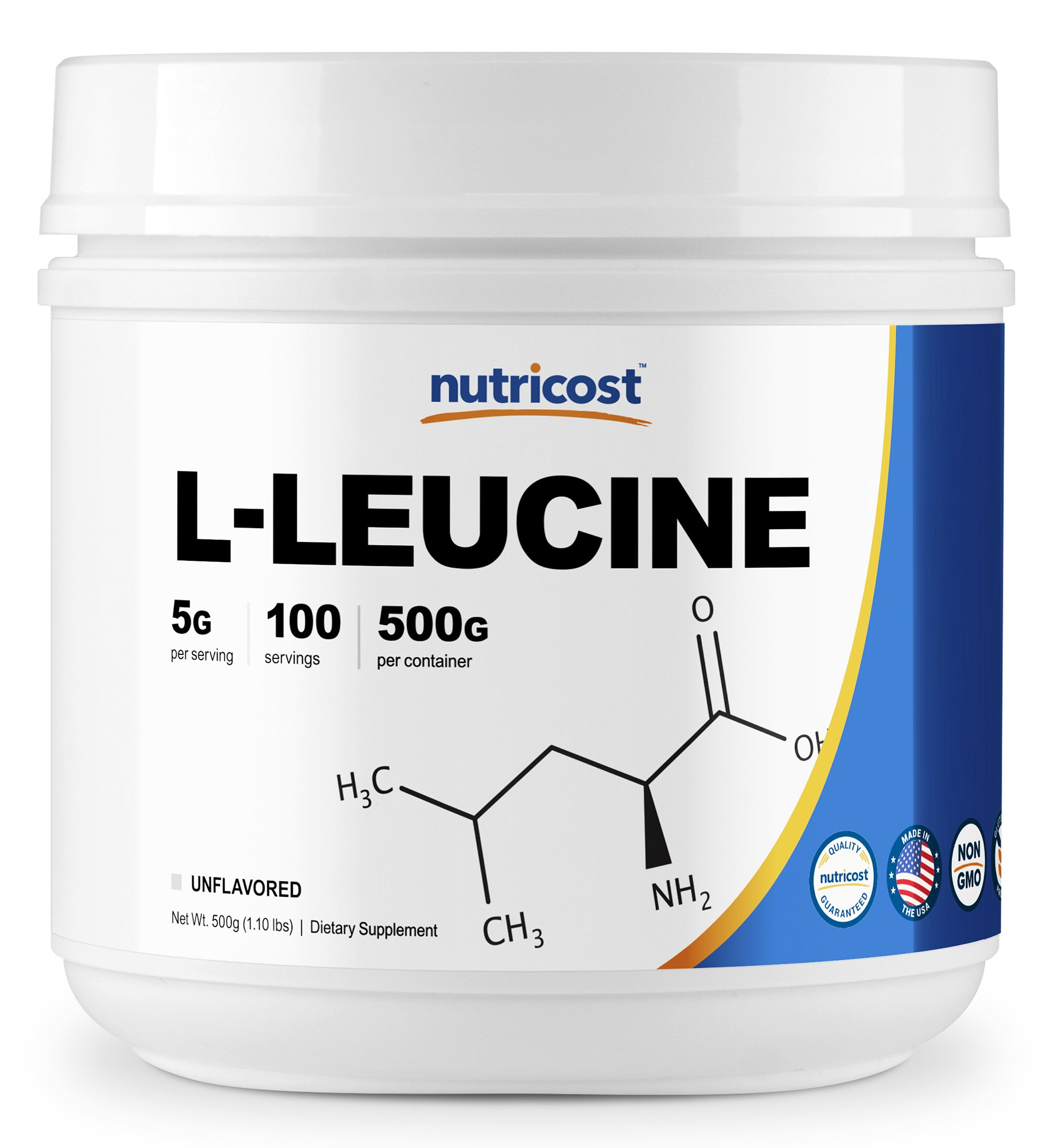 Nutricost Pure L-Leucine Powder 500 Grams