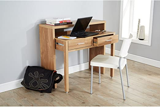 Value Furniture Regis Roble Mesa Consola Extensible Escritorio ...