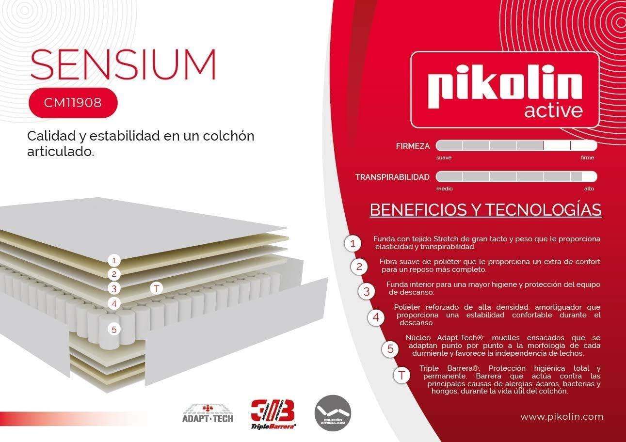 PIKOLIN – Colchón SENSIUM (Muelle ensacado - Compatible con ...