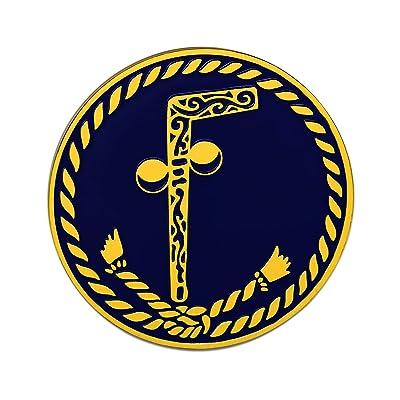 "Tubal Cain Black Round Masonic Auto Emblem - 3"" Diameter: Automotive"