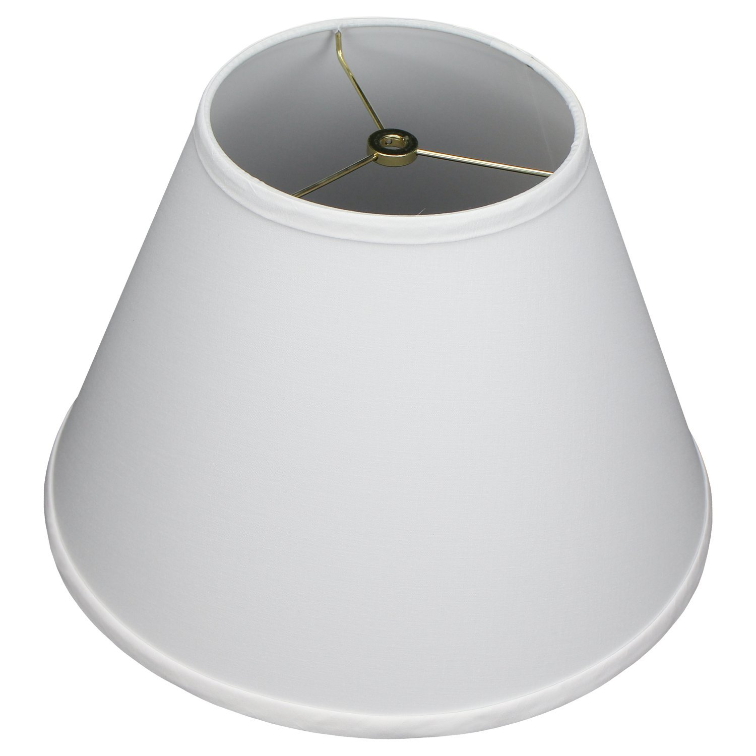 FenchelShades.com 7'' Top Diameter x 14'' Bottom Diameter 10'' Slant Height Lampshade USA Made (White)