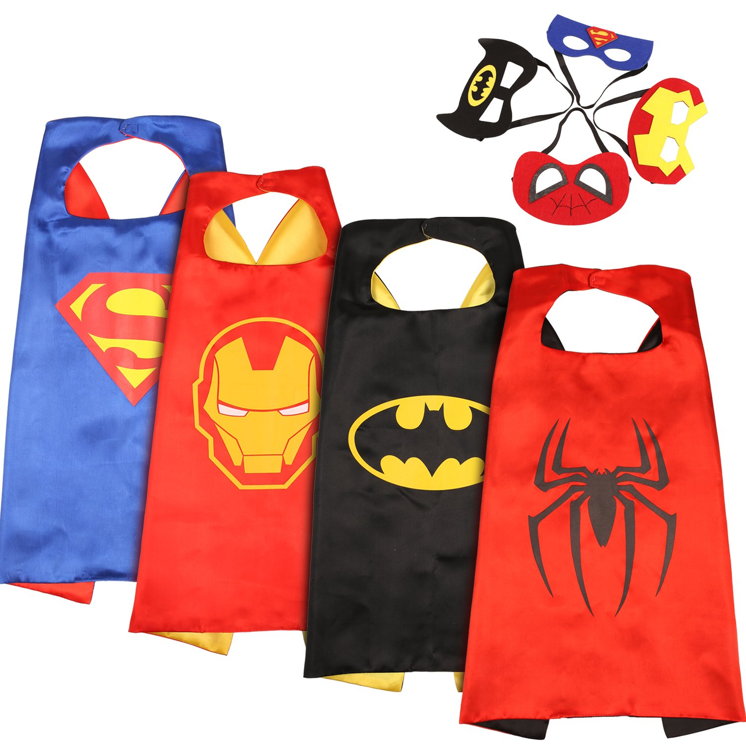 Comics Cartoon Superhelden Kostume Fur Kinder 5er Set Capes Und