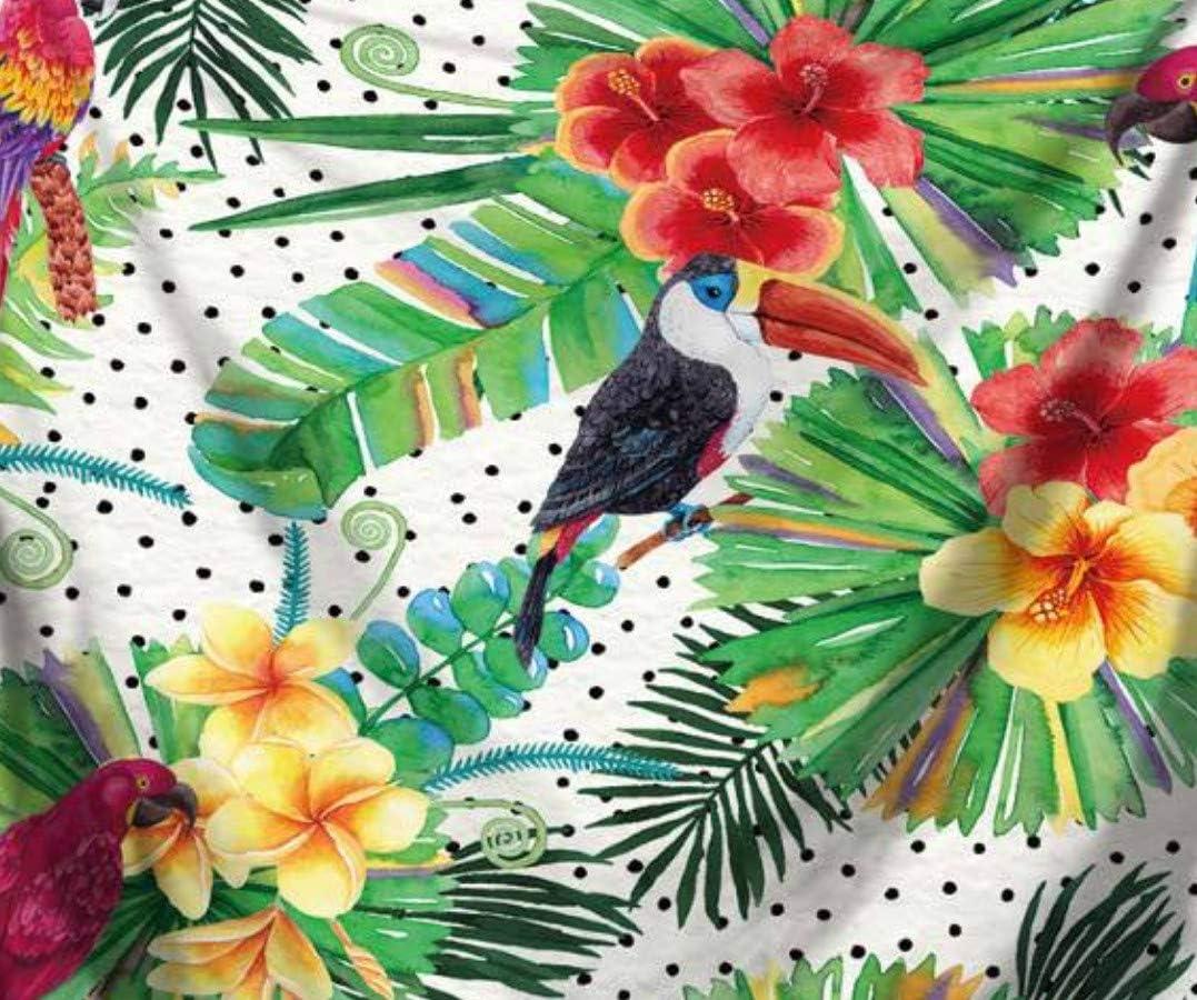 KDENDGGA Tucán De Hoja Verde De Estilo Idílico Tapiz para Colgar En La Pared con Art Nature Decoraciones para El Hogar para Sala De Estar Dormitorio Dormitorio 200X150Cm: Amazon.es: Hogar
