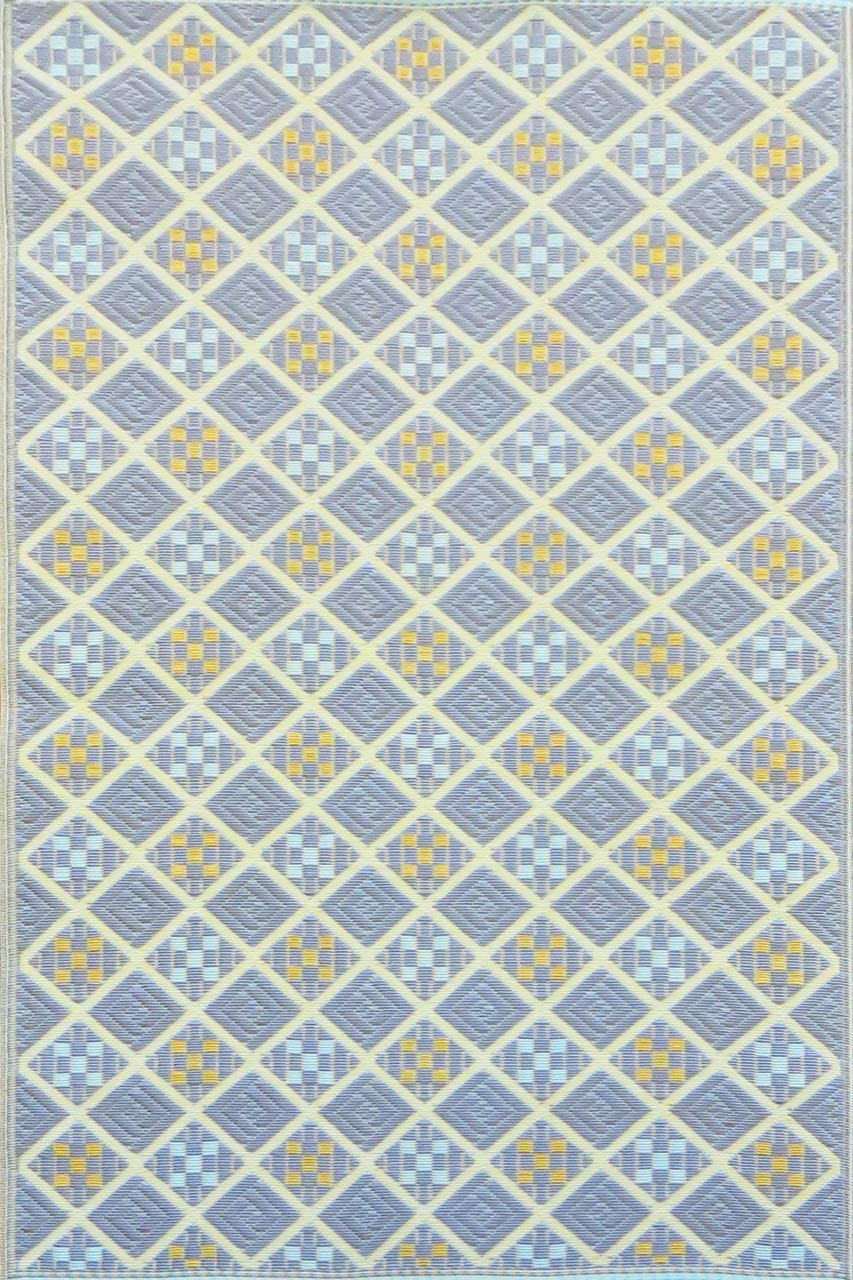 Mad Mats FM-SCO58-PW1 Outdoor Rug, 5 X 8 , Periwinkle