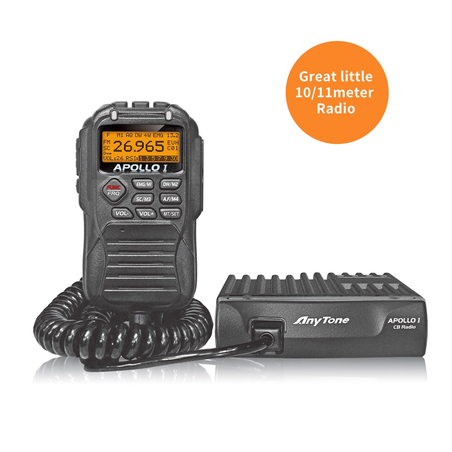 AnyTone APOLLO I 10 Meter Radio can convert into 11 meter CB Radio Kit 40 Channel for truck