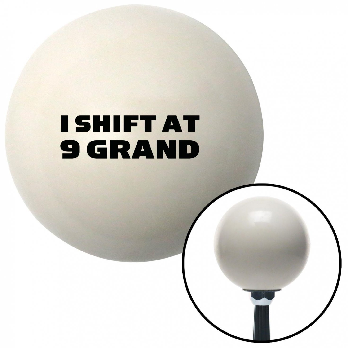 American Shifter 34348 Ivory Shift Knob with 16mm x 1.5 Insert Black I Shift at 9 Grand
