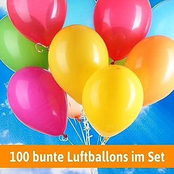 Luftballons Für Hochzeit 100 Bunte Ballons Luftballons Helium