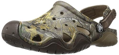 0fe358a52ff49 Amazon.com | crocs Men's Swiftwater Realtree Xtra Clog Mule, Walnut ...