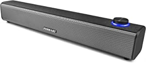 INSMART Computer Speakers, Wired Sound Bar, USB Powered & Aux Connection Mini Desktop Soundbar Speaker for PC, Cellphone, Tablet, Laptop