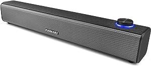 INSMART Computer Speakers, Wired Sound Bar, USB Powered & Aux Connection Mini Desktop Soundbar Speaker for PC, Cellphone, Tablet, Laptop