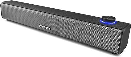 Computer Speaker Stereo USB Powered Mini Soundbar Speaker for PC Cellphone Tablets Desktop Laptop Wired Sound Bar for PC