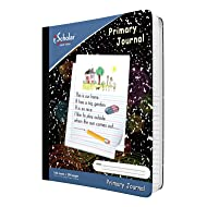iScholar Primary Composition Book, Journal, Unruled Top.5 Inch Ruled Bottom Half, 100 Sheets, 9.75 x 7.5 Inches, Black Marble (10116)