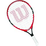 Wilson Tennis Racket for Kids, Ages 5-6, All Courter, Roger Federer 21, Red/Grey