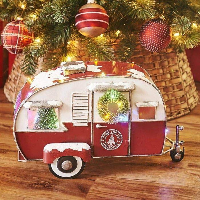 Sam's West Members Mark Pre Lit Vintage Metal Truck, Camper or Van Home Decor Decoration (Camper)