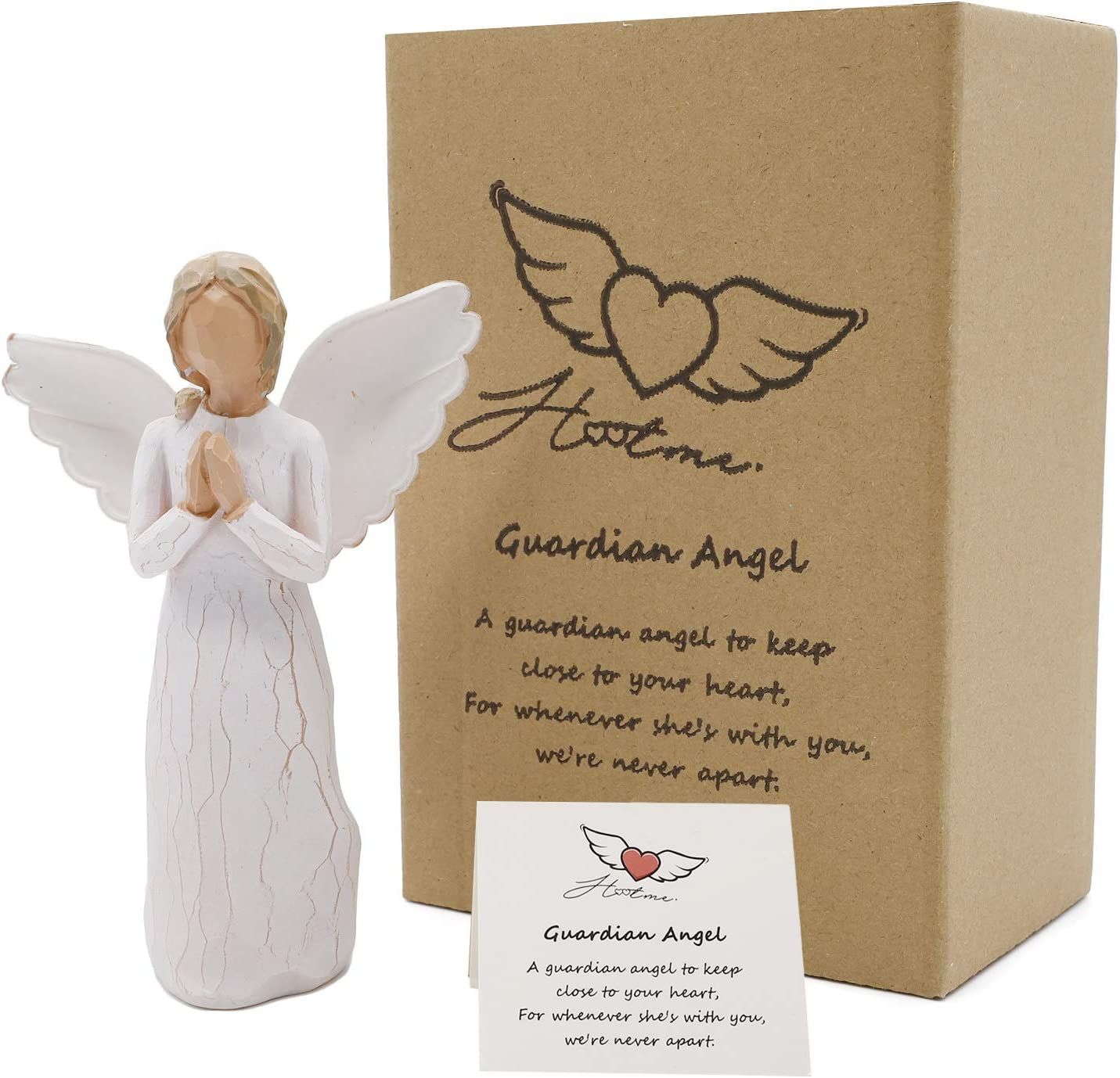 Hotme Guardian Angel Figurine,Angel of Prayer,Godmother Gifts,Angel Figurines in Memory of Loved One,Gift to Show Sympathy,Bereavement,Remembrance,Memorial,Condolence,Grieving