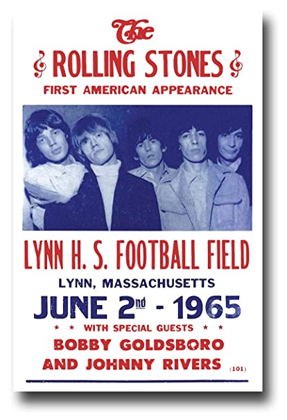 best website c3f76 4d527 The Rolling Stones Poster Concert Promo 11 x 17 inches First American  Appearance