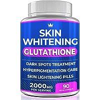 Glutathione Whitening Pills - 90 Capsules 2000mg Glutathione - Effective Skin Lightening Supplement - Dark Spots…