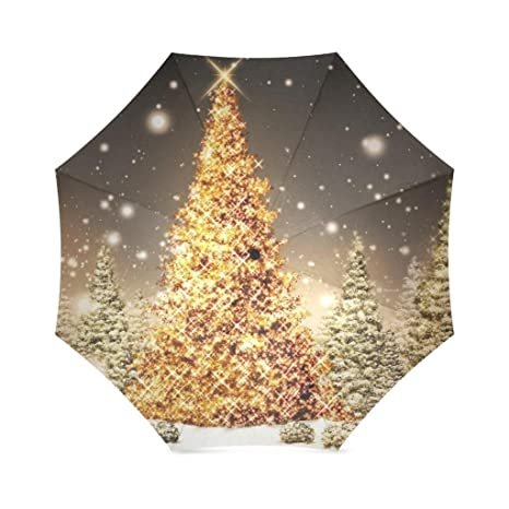 enne umbrella christmas tree folding compact travel umbrella rain windproof easy carrying - Umbrella Christmas Tree