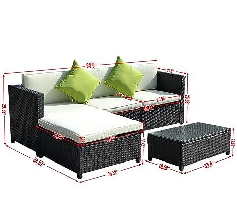 Amazon Com Myeasyshopping Replacement Cushions Rattan Sofa Set Deep