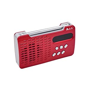 Portable Mini Mp3 Media Player Digital FM Radio with TF-card, USB-disk, AUX Input MP3 Playing Speaker (Red)