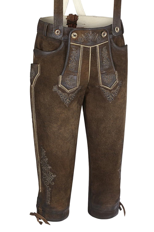 Maddox Herren Lederhose kniebund antik-nuss gespeckt Rotwand 110719
