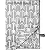 """Kids N' Such Minky Baby Blanket 30"""" x 40"""" - Grey Arrow - Soft Swaddle Blanket for Newborns and Toddlers - Best for Boys…"""