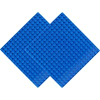 """EKIND 2 PCS Classic Large Blocks Building Base Block Plate 10"""" x 10"""" - Compatible with Large Pegs for Toddlers, Building…"""