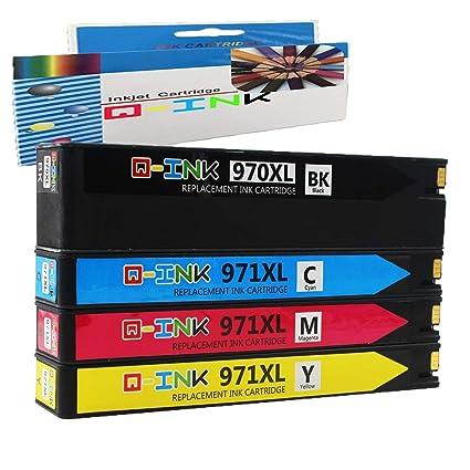 QINK Pack de 4 Cartuchos de Tinta para HP 970XL HP 971XL ...