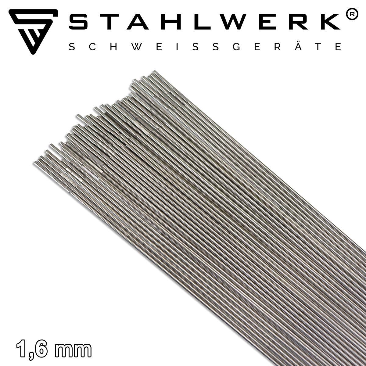 STAHLWERK Schwei/ßst/äbe Set ER70S-G3 Stahl /& ER307Si Edelstahl hochlegiert///Ø 1,6 x 500 mm//je 1 kg WIG Schwei/ßzusatz