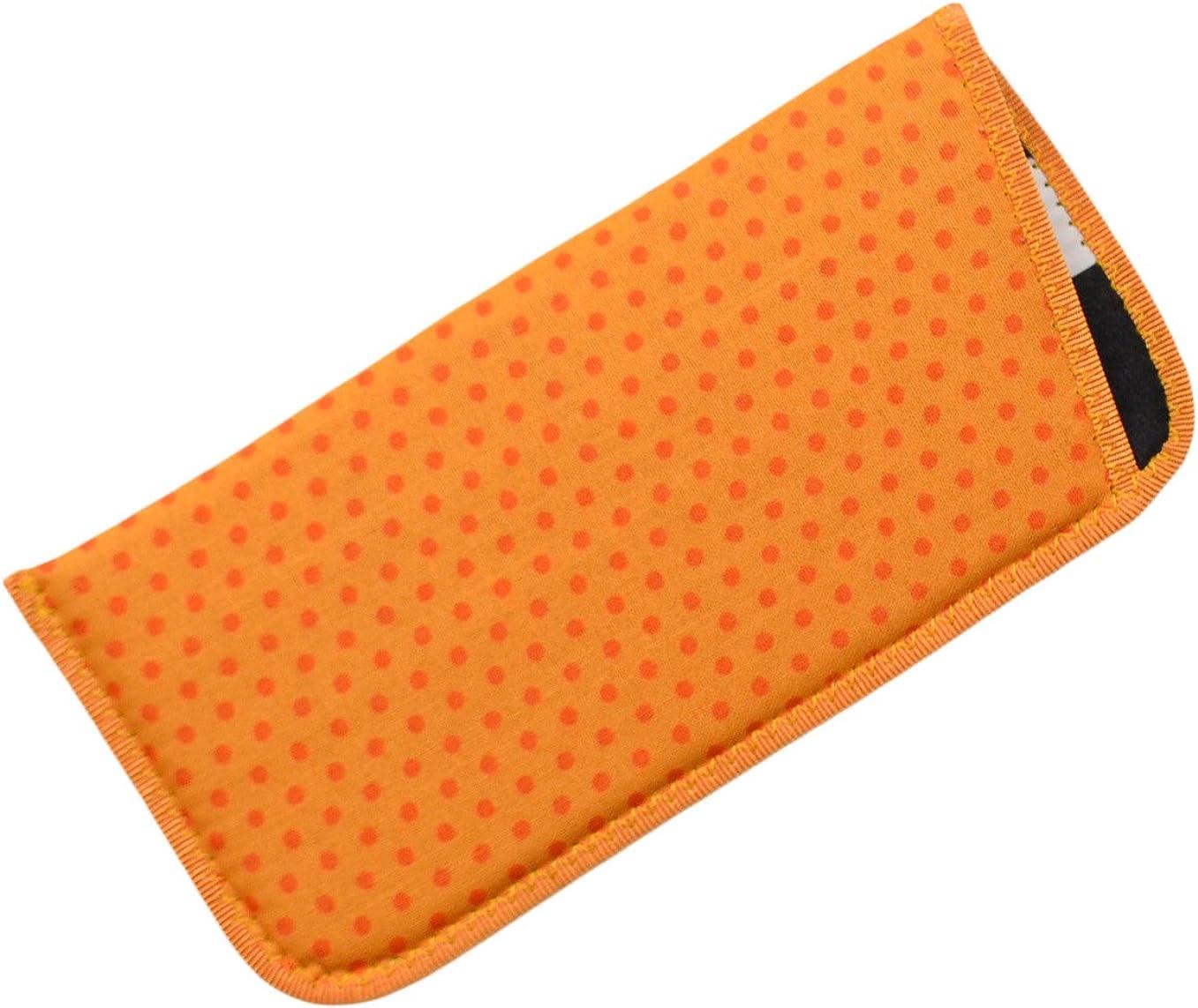 Polka Dot Eyeglass Slip Case Blue Green Orange Pink Purple Yellow USA Made