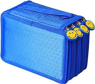 4 Fach Federmäppchen 72 teilig Federmappe Federtasche Bleistift Tasche Etui Box