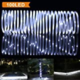 Amazon Price History for:LTE 33ft 100 LED Solar Rope Lights, Outdoor Waterproof Solar Rope Lights , Ideal for Decorations,Christmas,Gardens, Lawn, Patio, Weddings, Parties.(Daylight White)