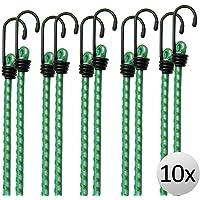 10x Tendeurs élastiques en caoutchouc, tendeurs bagage extension 61 cm x 8 mm Ø