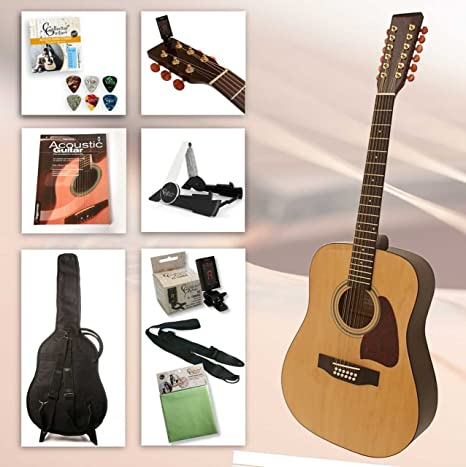 Guitarra Western de 12 cuerdas para principiantes con accesorios y ...