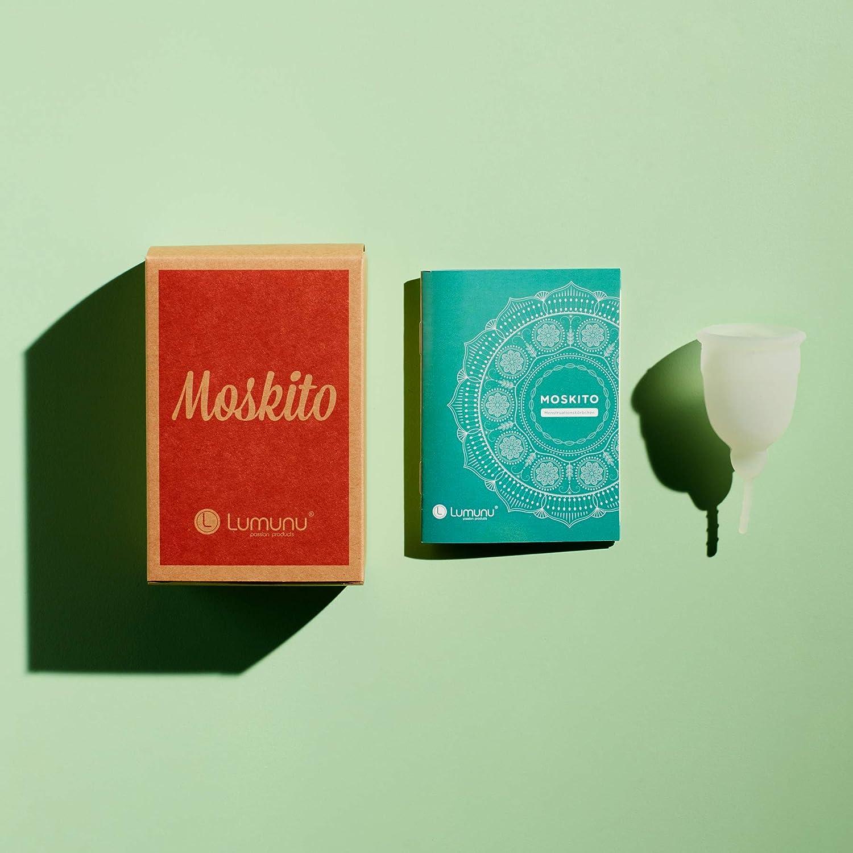 Copa menstrual de lujo Moskito, copa menstrual de silicona 100% médica, tampón ecológico, sostenible y alternativo