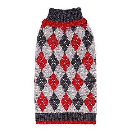 Amazon Plaid Pattern Dog Sweater Latest Designation Easy On