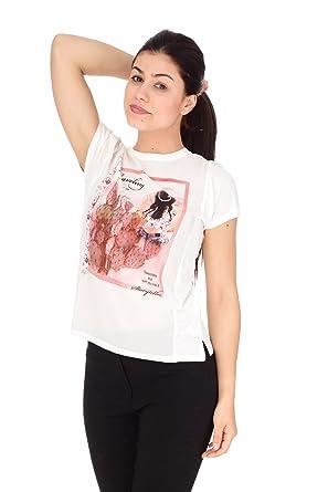 T shirt manica corta donna Only panna