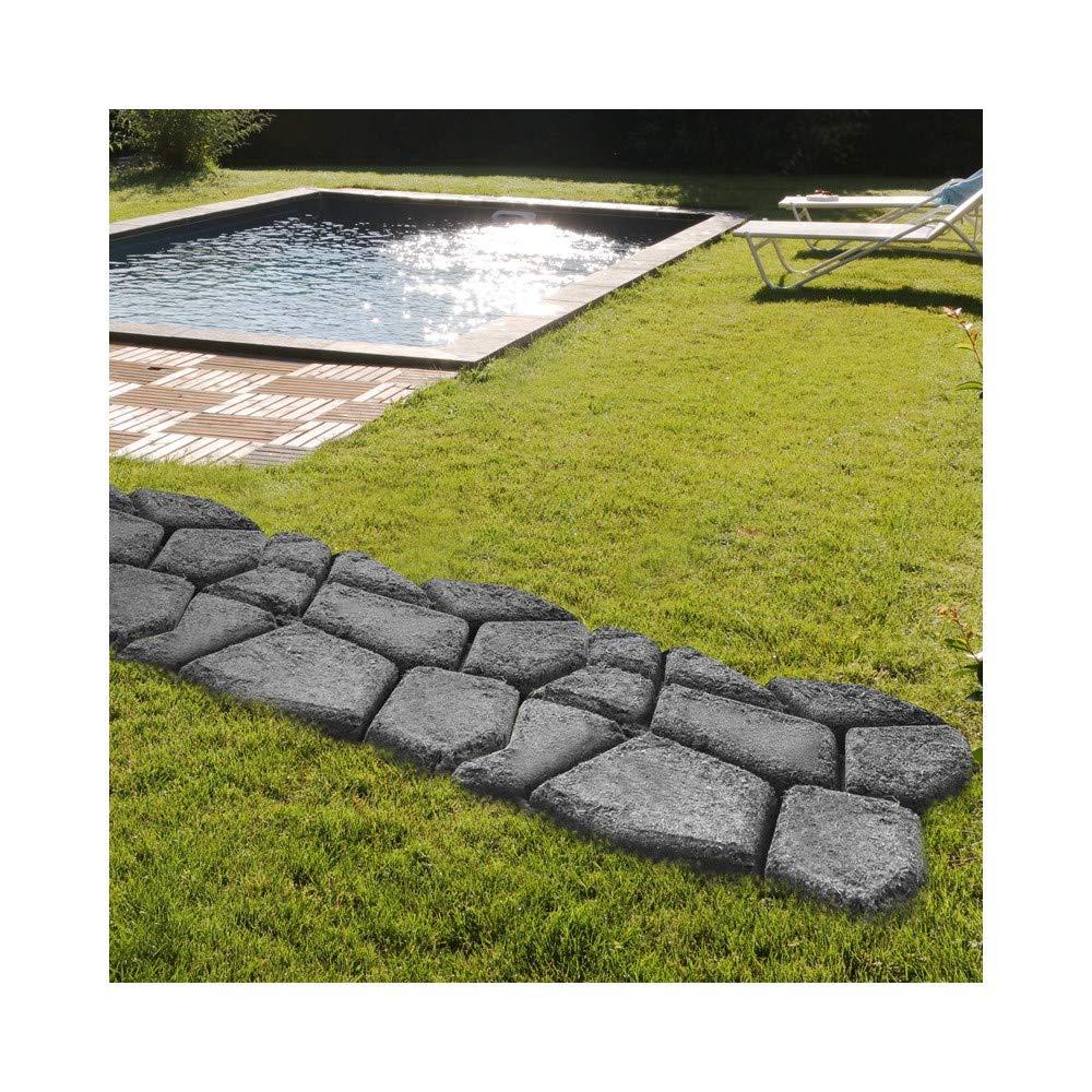 Molde cemento pavimento camino jardin - 42 x 42 x 4 cm: Amazon.es: Jardín